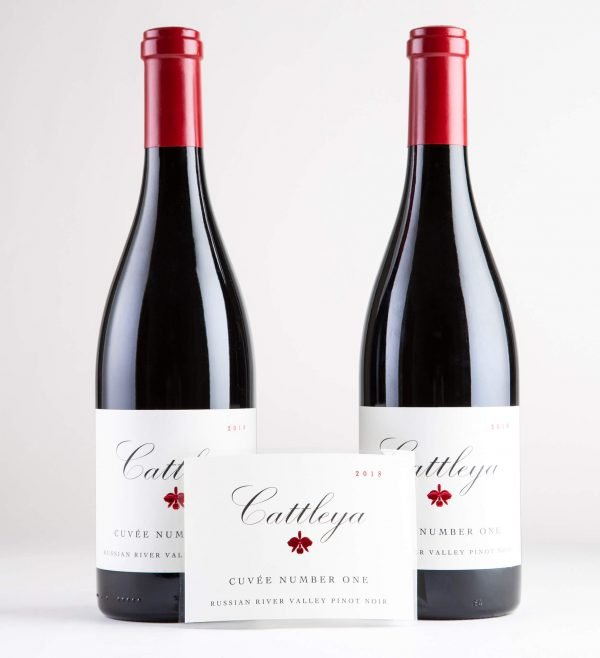 Cattleya 2018 Cuvee Number One Pinot Noir Bottleshots with Label
