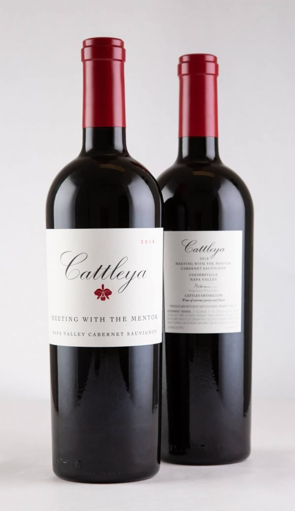 2018 Meeting with the Mentor Cabernet Sauvignon Front and Back Labels