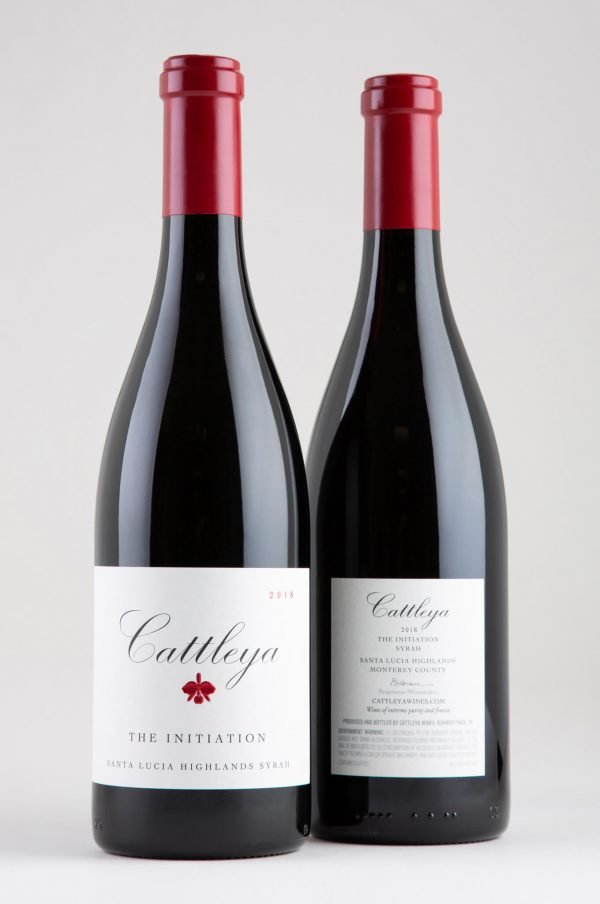 2018 The Initiation Syrah Front and Back Labels